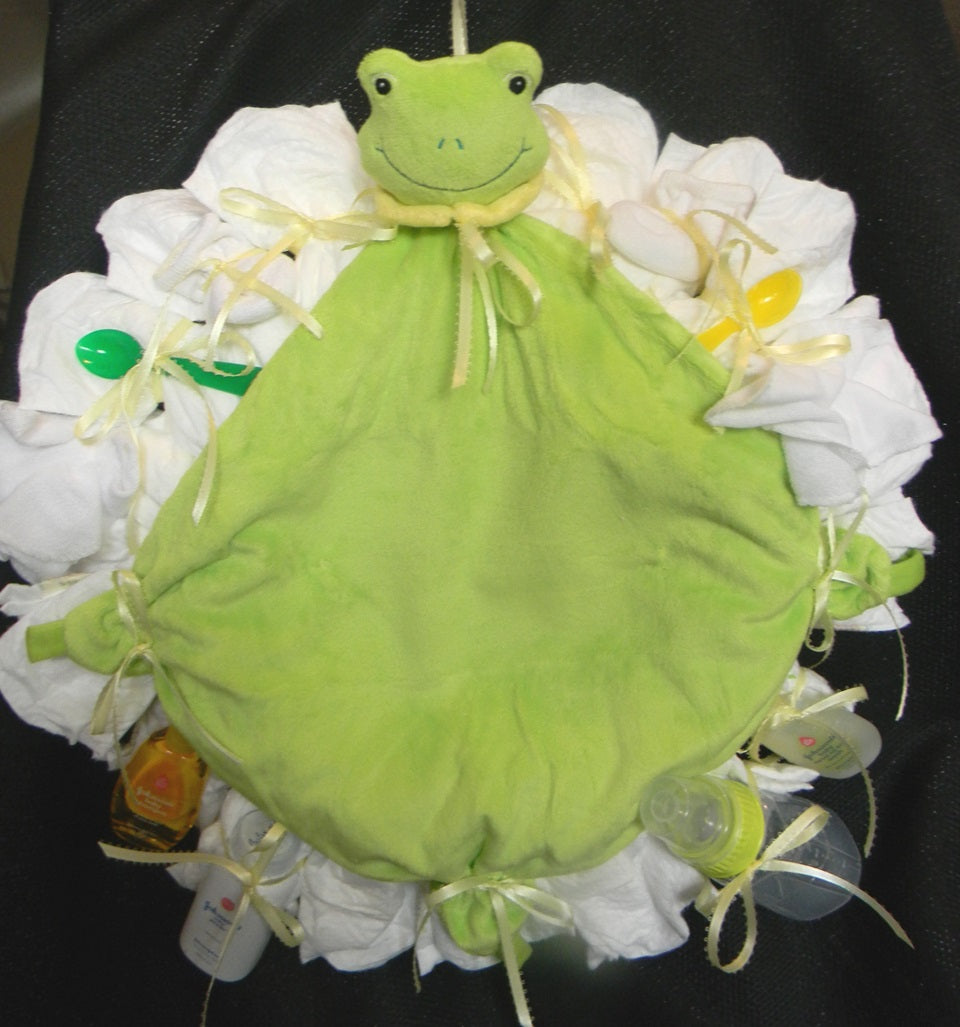 Froggie Diaper Wreath