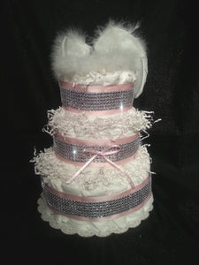 Heaven Sent Diaper Cake (3 Tier)