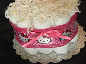Hello Kitty Diaper Cake (Mini)