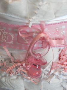 It's A Girl Diaper Cake (3 Tier)