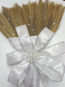 Simple Elegance Bling Dreams Wedding Broom