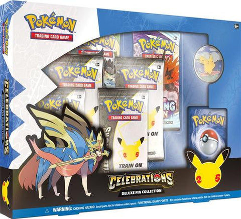 Pokemon 25th Anniversary Celebrations Deluxe Pin Collection