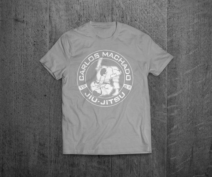 Logo Tee Light Grey - Carlos Machado Jiu-Jitsu Gear