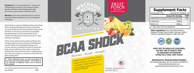 BCAA Shock (Fruit Punch)