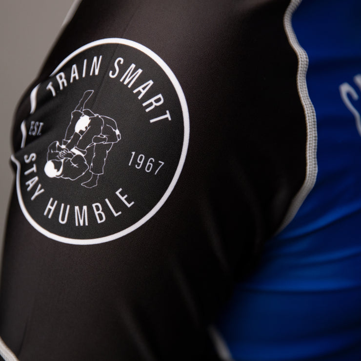 Blue Belt Ranked Short Sleeve Rashguard