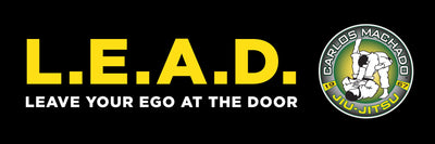 L.E.A.D Black and Yellow Banner - Carlos Machado Jiu-Jitsu Gear