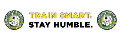 Train Smart White and Yellow Banner - Carlos Machado Jiu-Jitsu Gear
