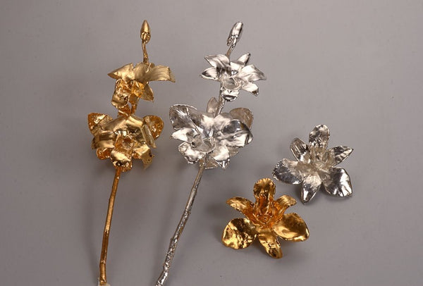 24k GOLD ORCHID STEM