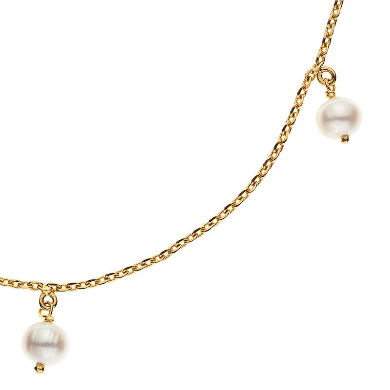 Ada Cultured White Pearls Necklace