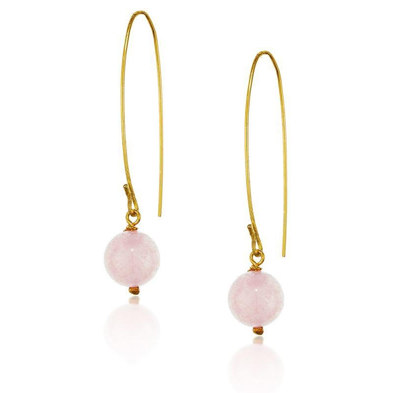 Jewel Globe Hoops - Rose