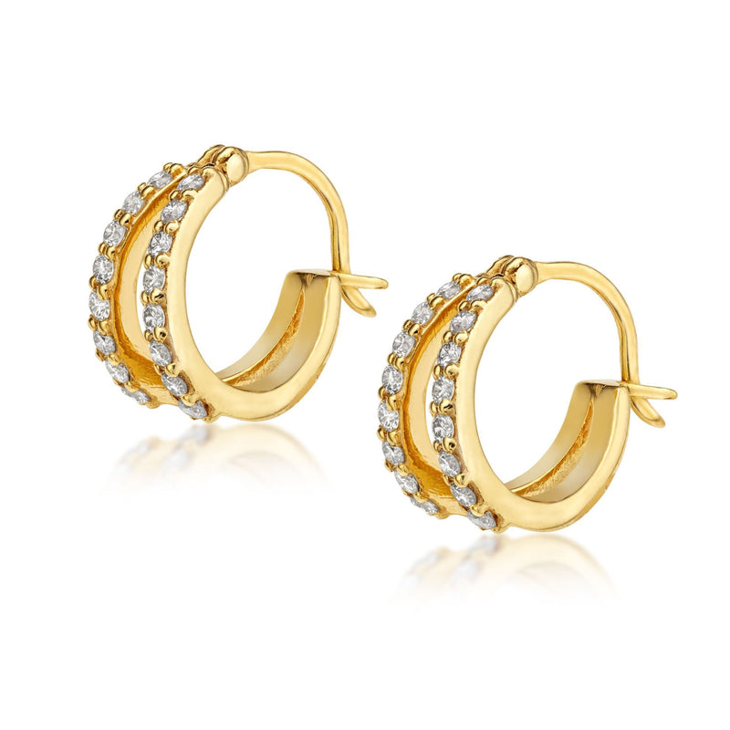 Brooke Diamond Hoops