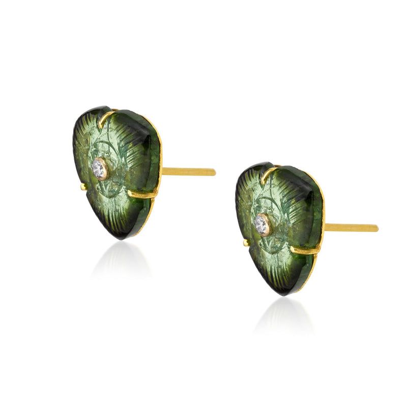 Reya Green Tourmaline Earrings