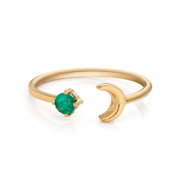 Cosmic Emerald Ring