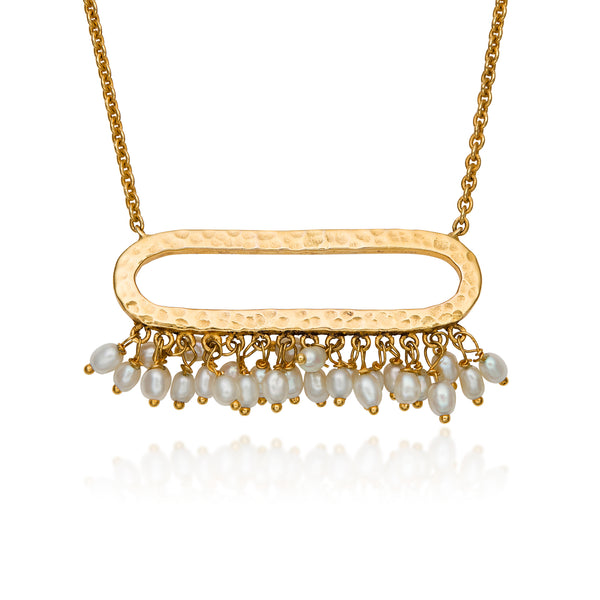 Terra Pearl Fringe Necklace
