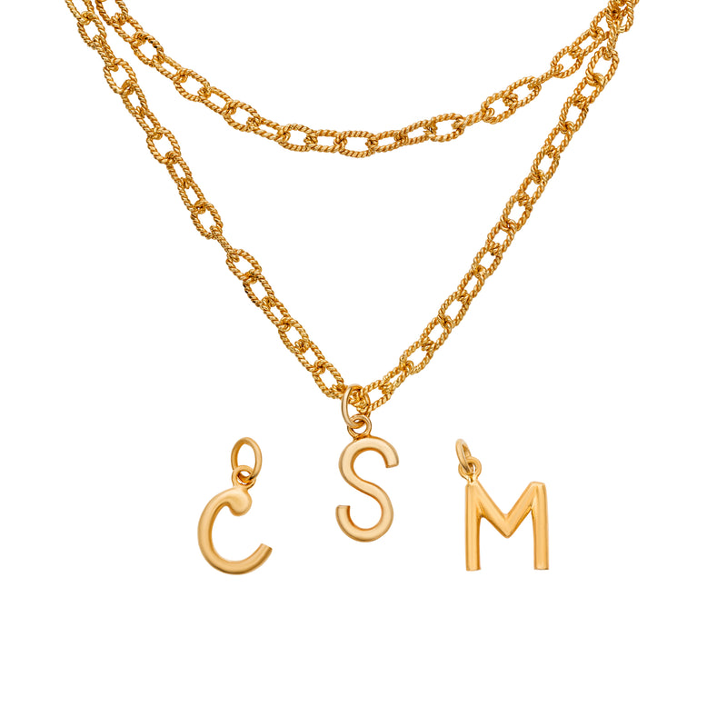 Monogram Link Necklace