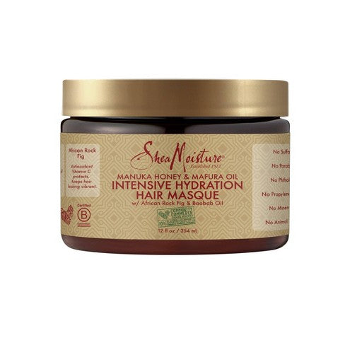 SheaMoisture, Intensive Hydration Hair Masque, Manuka Honey & Mafura Oil, 12 oz (340 g)
