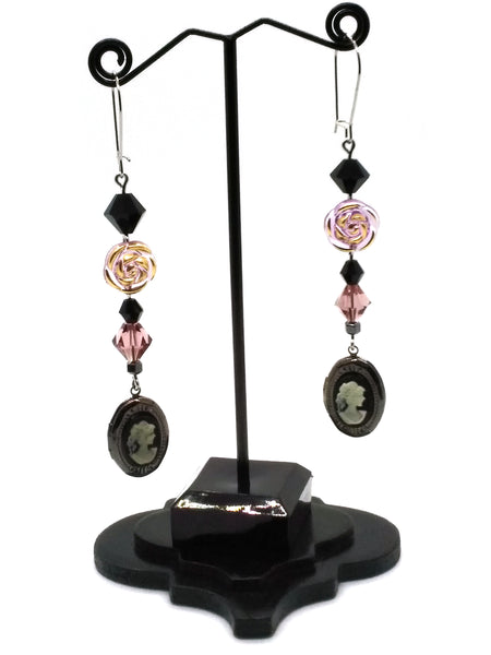 Goth Earrings - Cameo Earrings