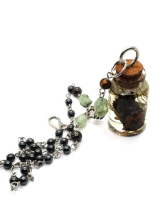 Goth Necklace - Curiosity Bottled Cicada Necklace