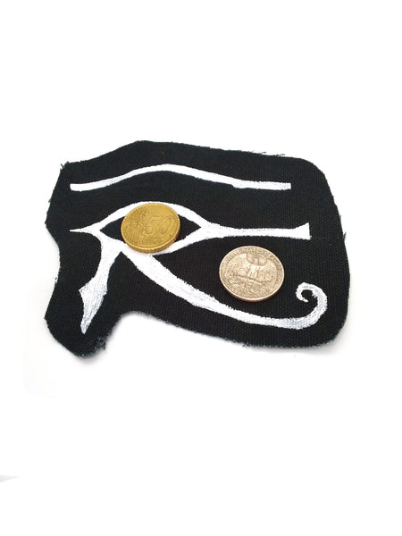 Goth Patch - Eye of Horus - Hand Painted