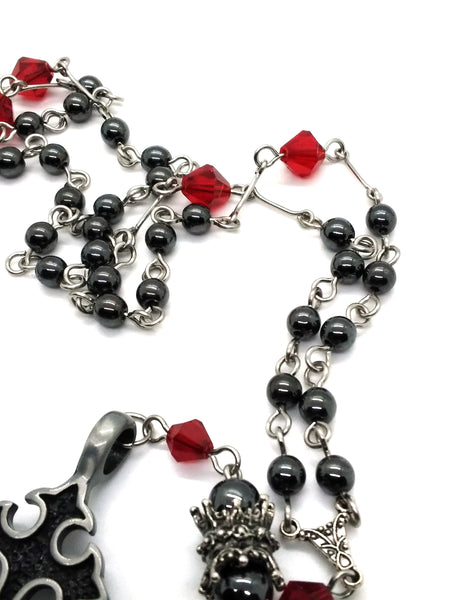 Goth Rosary - Gothic Cross
