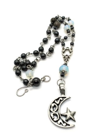 Goth Necklace - Lunar Star