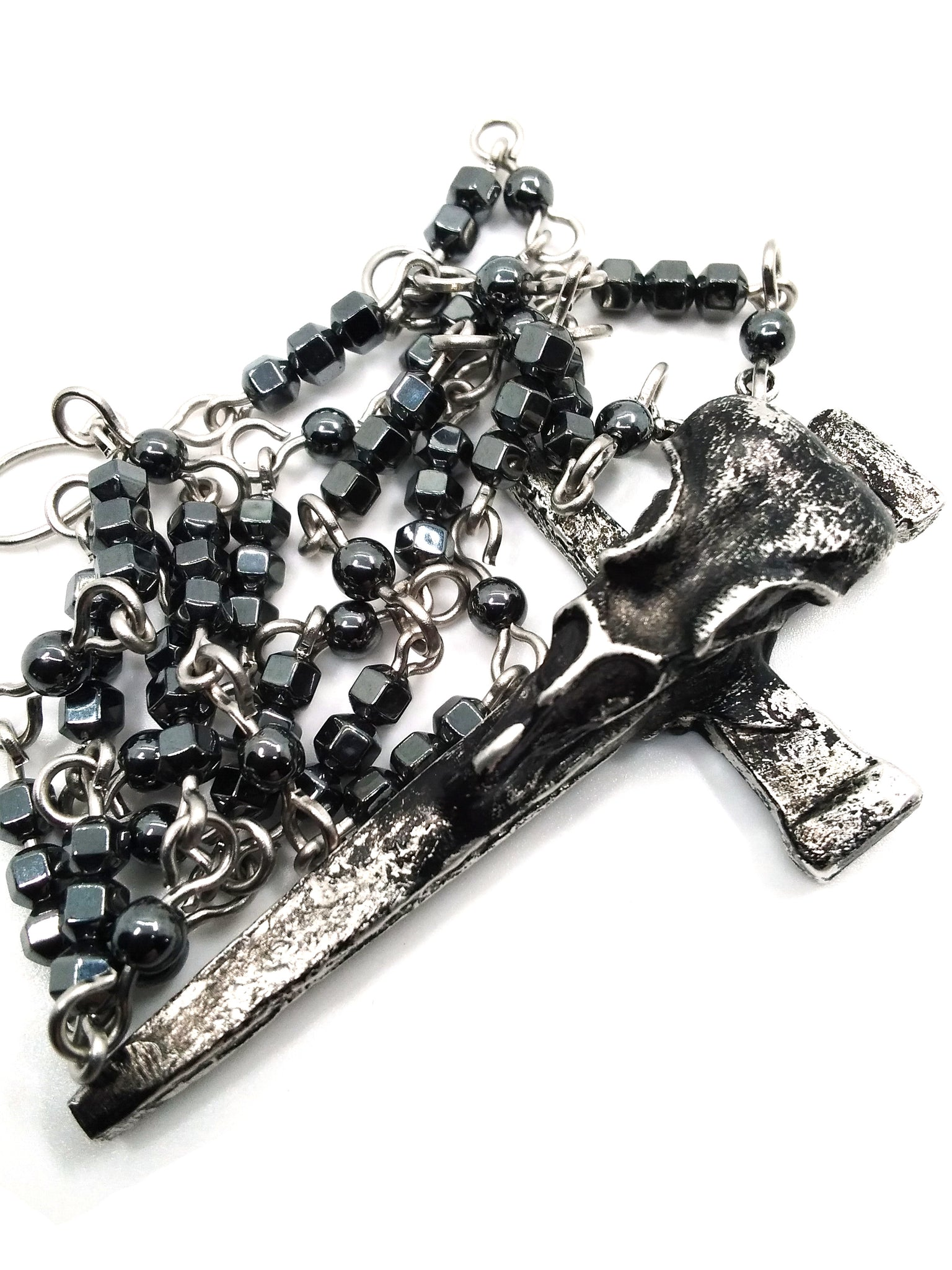 Goth Necklace - Nail Cross