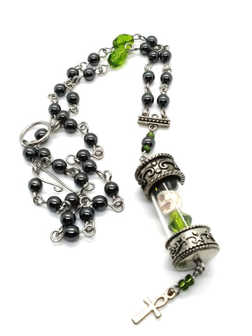 Goth Necklace - Skull Reliquary