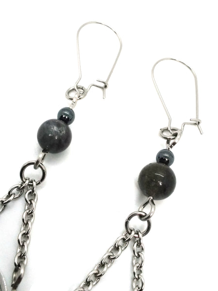 Goth Earrings - Triquetra Drop
