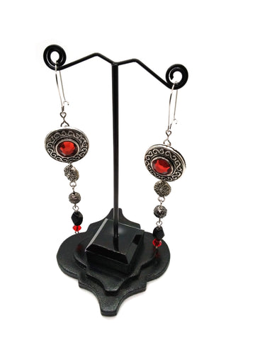 Goth Earrings - Vintage Recycled Earrings