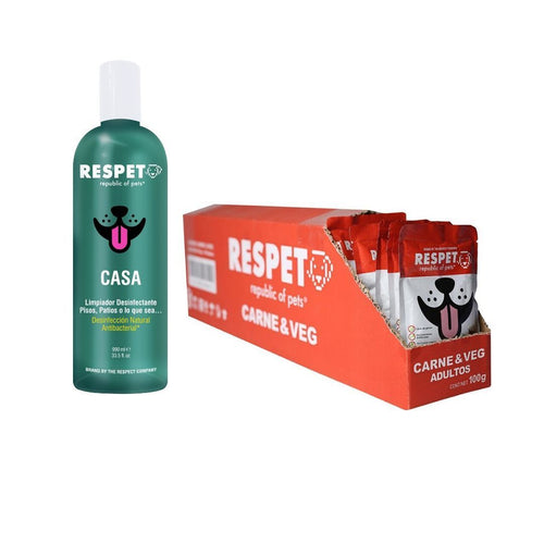 Pack Respet (30 Sobres de Carne y 1 Desinfectante) PACK The Respect Co.