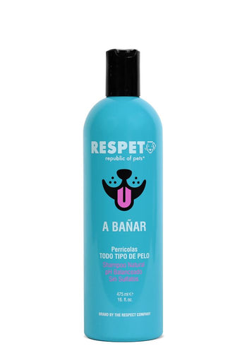 Shampoo Respet Natural - Perro y Gato - Todo Tipo de Pelo- SHAMPOO PERROS Y GATOS The Respect Co.