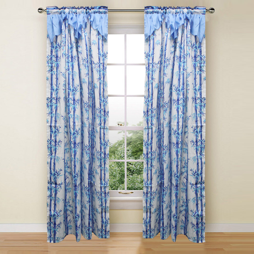 Bamboo Long Curtain Collection Single Panel 1pc 55 x72 Inches