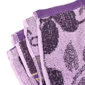 Purple Floral Large Size Body Bath Towel High Quality 100% Cotton Water Absorbent