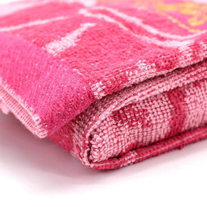 Pink Floral Large Size Body Bath Towel High Quality 100% Cotton Water Absorbent