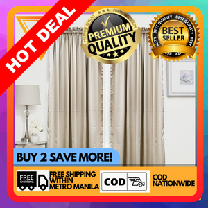 Copy of 1PC Dim Out Curtain 55 x 84 Inches Long Single Panel for Living Room and Bedroom Windows