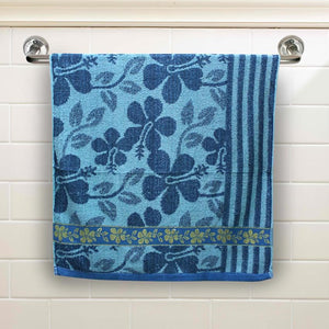 Aqua Floral Large Size Body Bath Towel High Quality 100% Cotton Water Absorbent