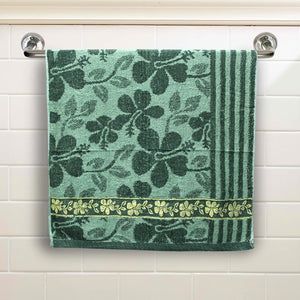 Seagreen Floral Large Size Body Bath Towel High Quality 100% Cotton Water Absorbent