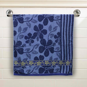 Blue Floral Large Size Body Bath Towel High Quality 100% Cotton Water Absorbent