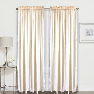 1PC Dim Out Curtain 55 x 72 Inches Long Single Panel for Living Room and Bedroom Windows