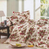 Beige Floral Home Sweet Home Black and White Paisley 3 in 1 Bed Sheet Set (1 Fitted Sheet and 2 Free Pillowcases)