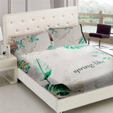 White Spring-like 3 in 1 Bed Sheet Set (1 Full Garter Sheet 2 Pillowcases)