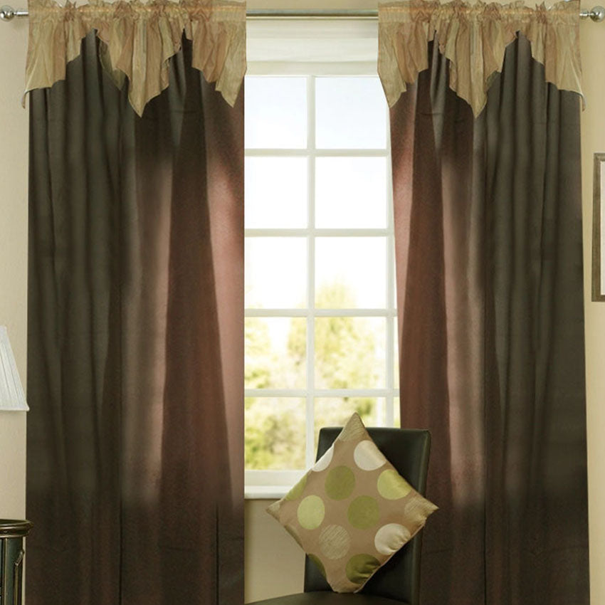 Haywood Curtain Collection Single Panel 1pc 55 x72 Inches