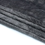 Home Sweet Home Twin Size Coral Fleece Blanket Plain - Gray