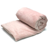 Home Sweet Home Twin Size Coral Fleece Blanket Plain - Salmon