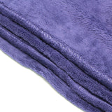 Home Sweet Home Twin Size Coral Fleece Blanket Plain - Midnight Blue