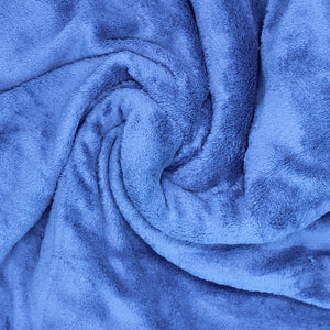 Home Sweet Home Twin Size Coral Fleece Blanket Plain - Royal Blue