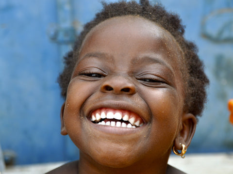 smiling kid in africa