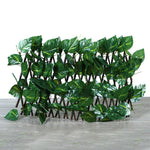 Expandable Faux Ivy Privacy Fence Wood
