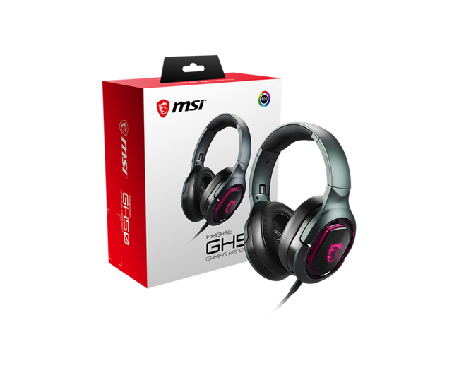 MSI Immerse GH50 7.1 Surround Sound RGB Gaming Headset