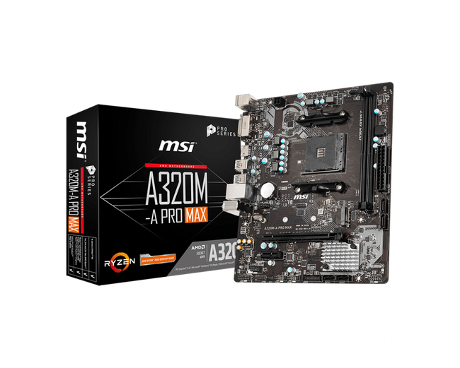 MSI A320M-A PRO MAX AMD AM4 Motherboard